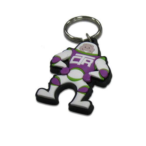Custom Rubber Keyring - 3D Embossed