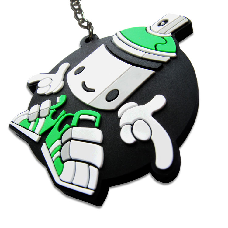 Custom Rubber Keyring - 2D Embossed
