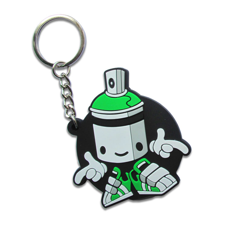 2D Rubber Keyrings