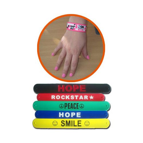 Customised Slap Bands - Silicone Slap Bands